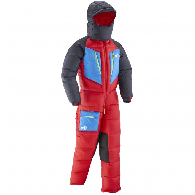 Daunenanzug für herren - Expedition - rot MXP TRILOGY DOWN SUIT Millet