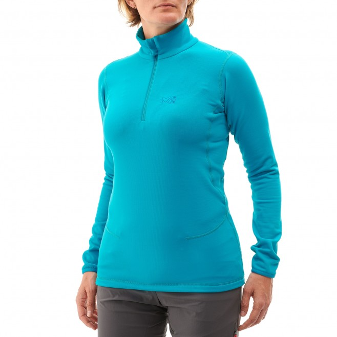 Microfleece für Damen - Ski - Lila LD TECH STRETCH TOP Millet 3