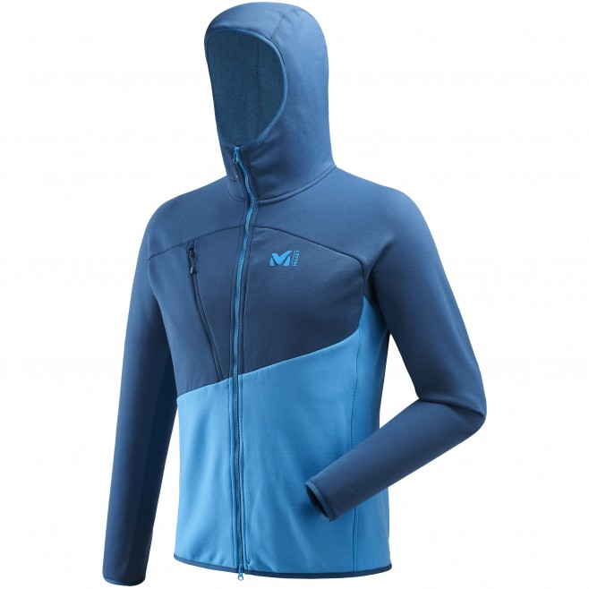 Fleecejacke für Herren - Alpinklettern - Blau ELEVATION POWER HOODIE Millet