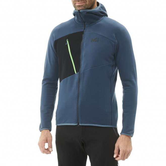 Warme Fleecejacke für herren - alpinklettern - marineblau ELEVATION POWER HOODIE Millet 2