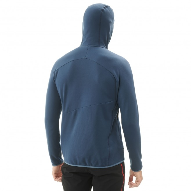 Warme Fleecejacke für herren - alpinklettern - marineblau ELEVATION POWER HOODIE Millet 3