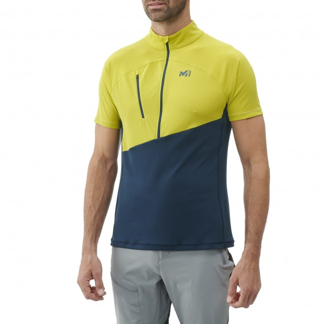 Tee-shirt für Herren - blau ELEVATION ZIP SS M  Millet 2