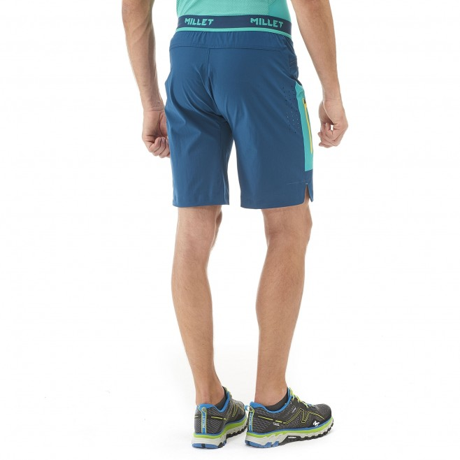 Trail Running - short - Für Herren - Marineblau LTK SPEED LONG SHORT Millet 3