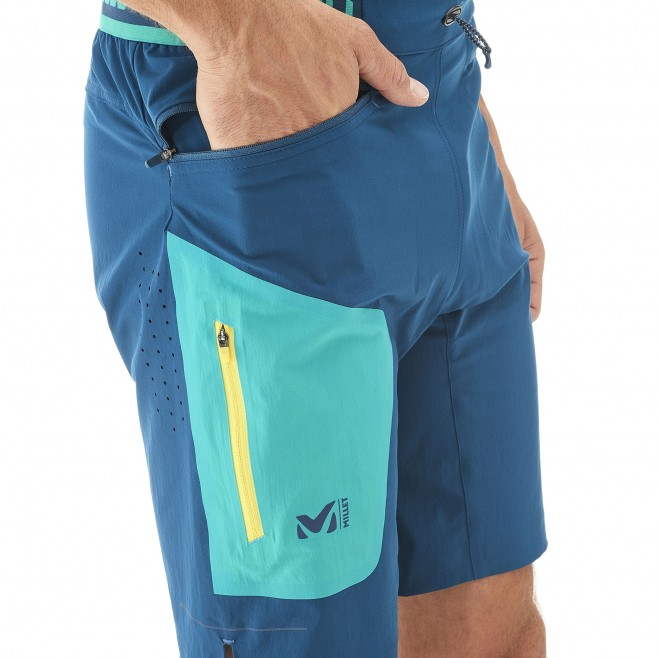 Trail Running - short - Für Herren - Marineblau LTK SPEED LONG SHORT Millet 4