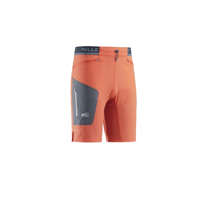 Bermudashort für herren - trailrunning - orange LTK SPEED LONG SHORT Millet