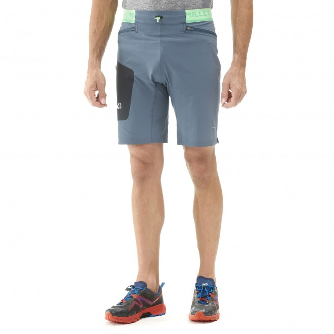 Bermudashort für herren - trailrunning - marineblau LTK SPEED LONG SHORT Millet 3
