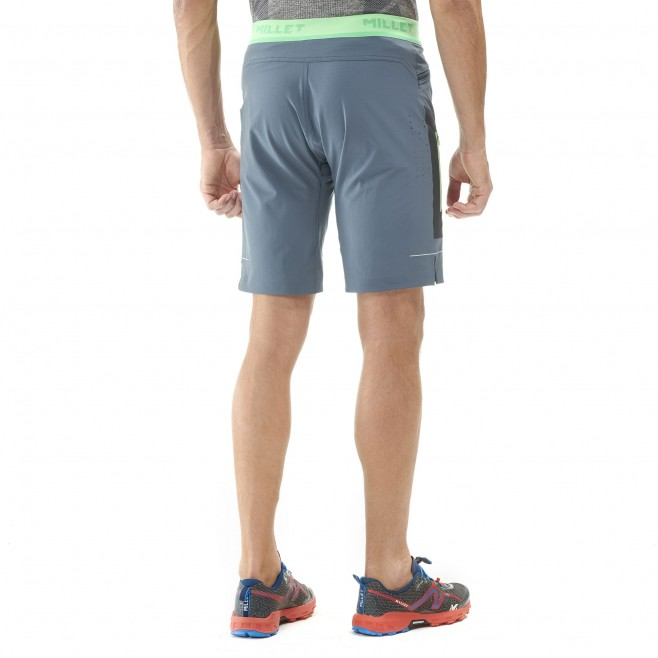 Bermudashort für herren - trailrunning - marineblau LTK SPEED LONG SHORT Millet 4