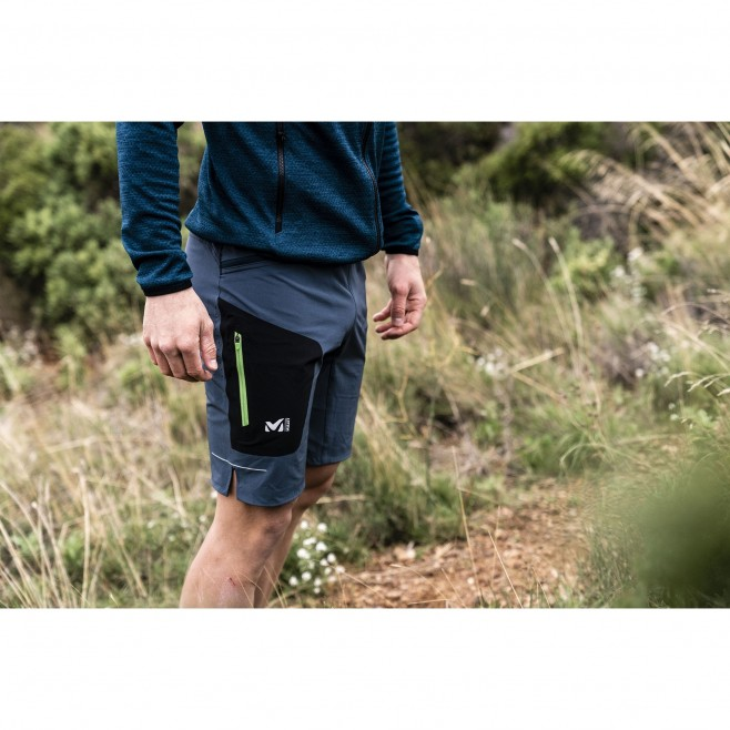 Bermudashort für herren - trailrunning - marineblau LTK SPEED LONG SHORT Millet 2