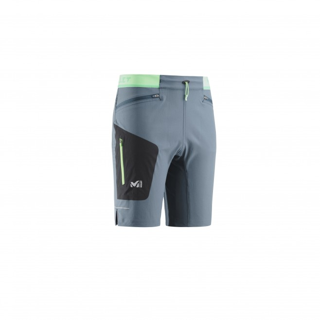 Bermudashort für herren - trailrunning - marineblau LTK SPEED LONG SHORT Millet