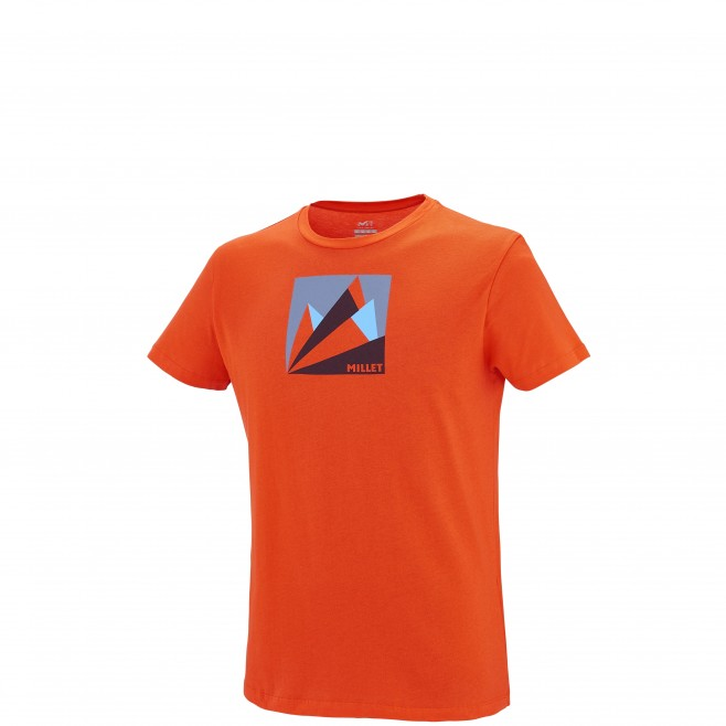 Klettern - T-shirt - Für Herren - Orange MILLET FAN MOUNTAIN TS SS Millet