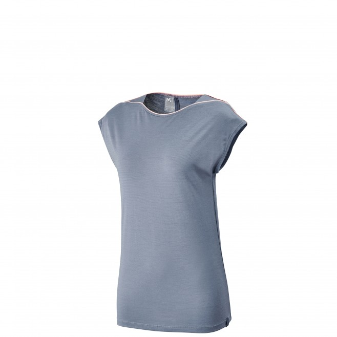 Tee-shirt für Damen - blau CLOUD PEAK WOOL TS SS W  Millet