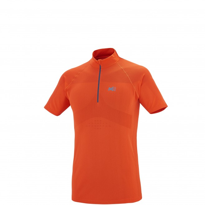 Trail Running - T-shirt - Für Herren - Orange LTK SEAMLESS ZIP SS Millet