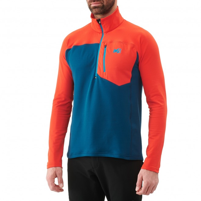 Microfleece für Herren - Ski - Marineblau TECHNOSTRETCH ZIP Millet 4