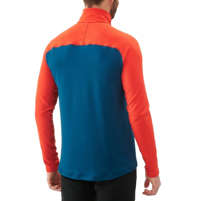 Microfleece für Herren - Ski - Marineblau TECHNOSTRETCH ZIP Millet 2