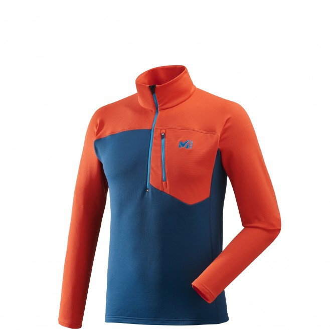 Microfleece für Herren - Ski - Marineblau TECHNOSTRETCH ZIP Millet