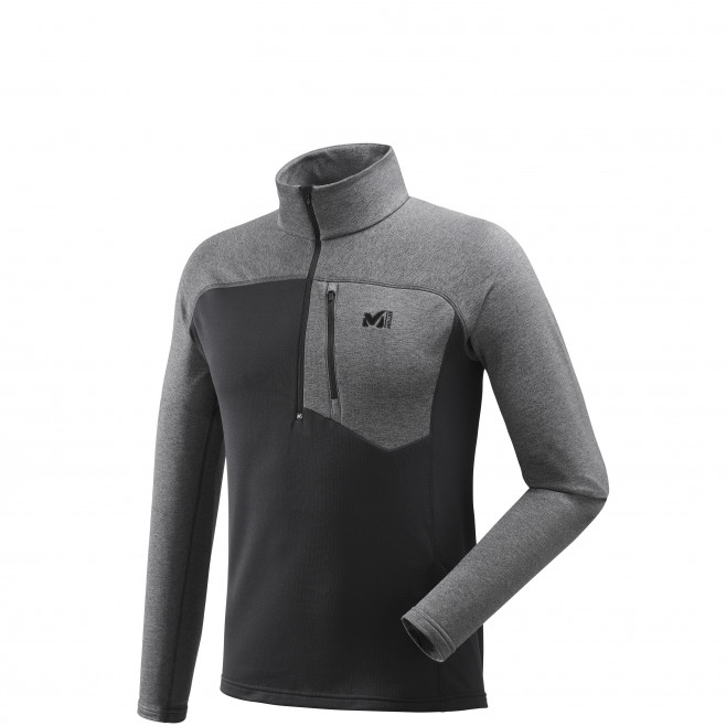 Microfleece für herren - grau TECHNOSTRETCH ZIP Millet