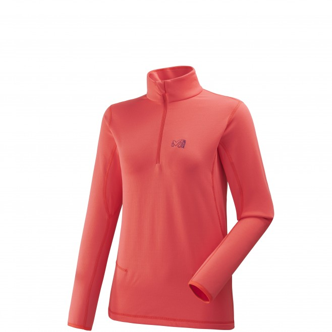 Microfleece für Damen - Ski - Rosa LD TECH STRETCH TOP Millet