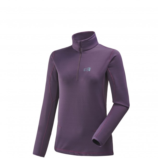 Microfleece für Damen - Ski - Lila LD TECH STRETCH TOP Millet