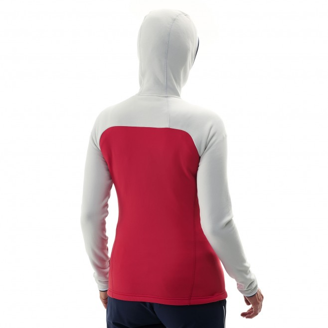 Warme Fleecejacke für damen - alpinklettern - rot LD TRILOGY ULTIMATE POWER HOODIE Millet 3