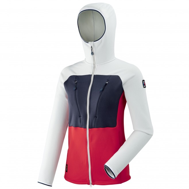 Warme Fleecejacke für damen - alpinklettern - rot LD TRILOGY ULTIMATE POWER HOODIE Millet