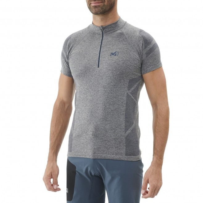 Tee-shirt für Herren - marineblau LTK SEAMLESS LIGHT ZIP SS M  Millet 2