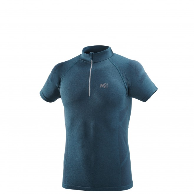 Tee-shirt für Herren - marineblau LTK SEAMLESS LIGHT ZIP SS M  Millet
