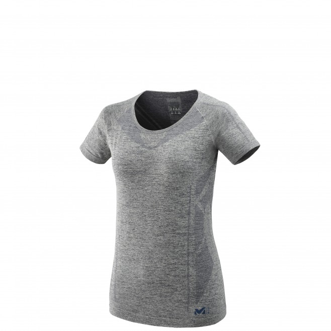 Tee-shirt für Damen - grau LTK SEAMLESS LIGHT TS SS W  Millet