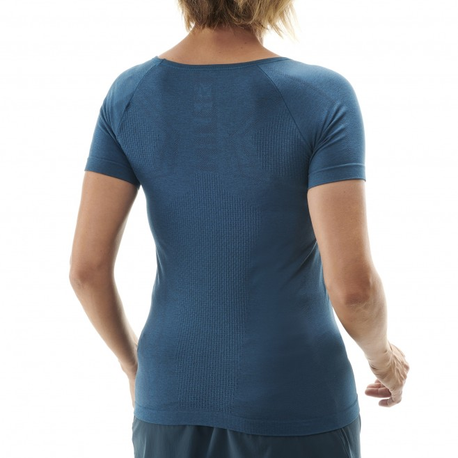 Tee-Shirt für Damen  - marineblau LTK SEAMLESS LIGHT TS SS W Millet 3