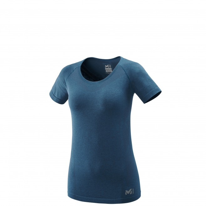 Tee-Shirt für Damen  - marineblau LTK SEAMLESS LIGHT TS SS W Millet