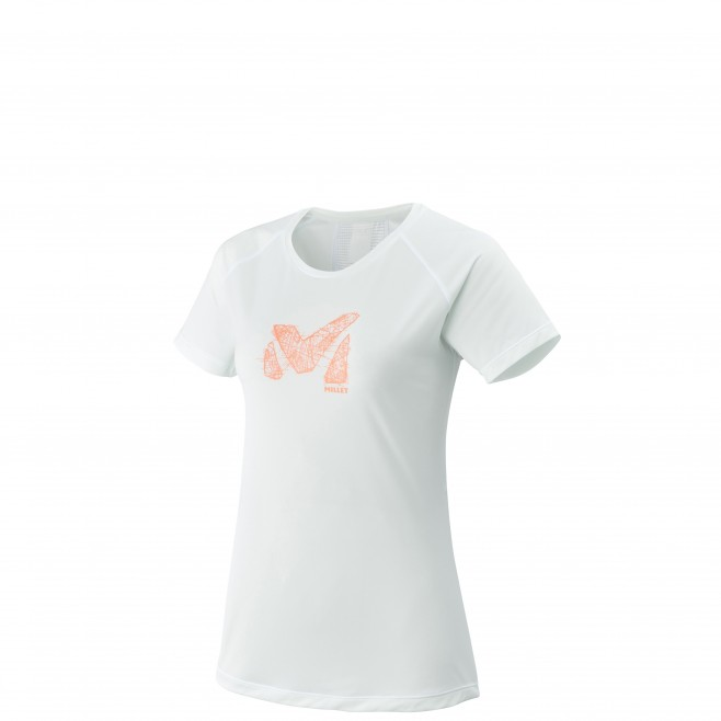Kurzarm T-Shirt für damen - trailrunning - weiss LD LTK LIGHT TS SS Millet