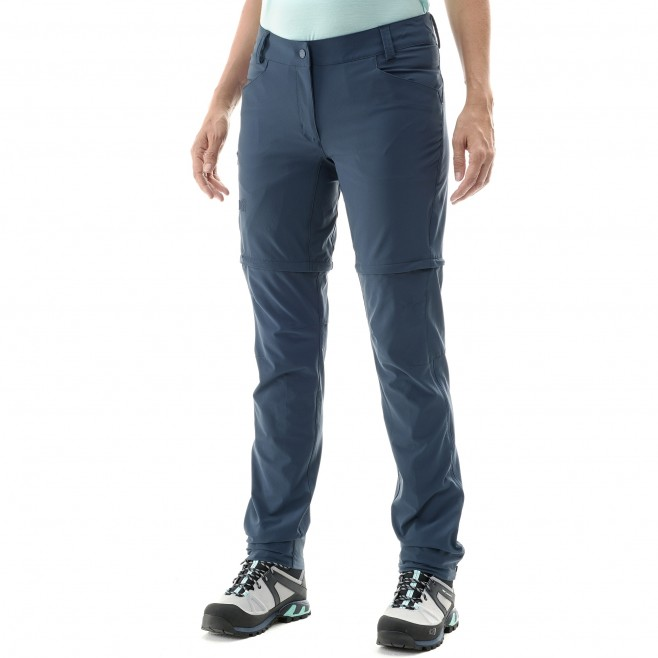 2 in 1 hose für Damen - blau TREKKER STRETCH ZIP-OFF PANT II W  Millet 2