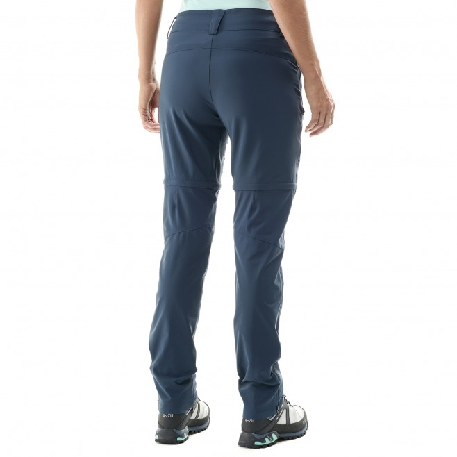 2 in 1 hose für Damen - blau TREKKER STRETCH ZIP-OFF PANT II W  Millet 3