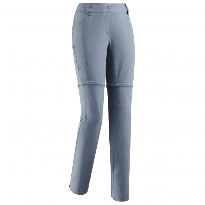 2 in 1 hose für Damen - blau TREKKER STRETCH ZIP-OFF PANT II W  Millet