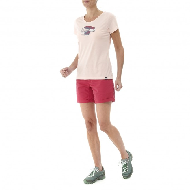 Short für Damen  - rot WANAKA STRETCH SHORT II W Millet 2
