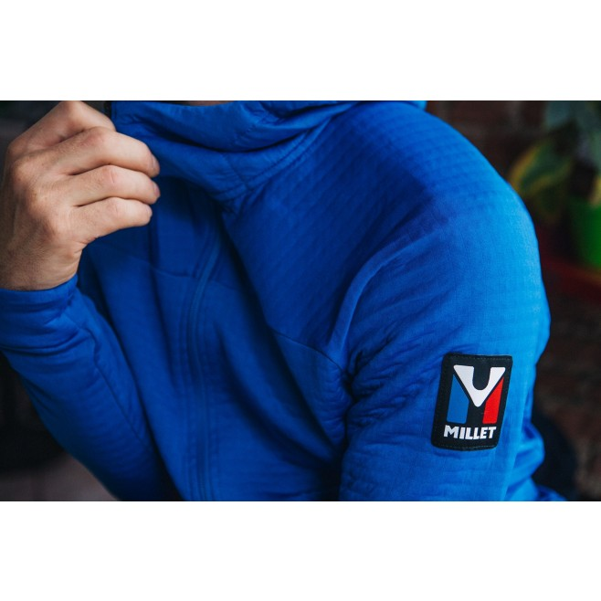 Fleecejacke für Herren - blau TRILOGY POWER AIR HOODIE M Millet 3