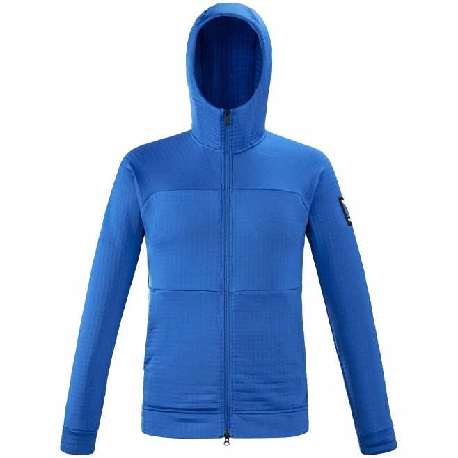 Fleecejacke für Herren - blau TRILOGY POWER AIR HOODIE M Millet