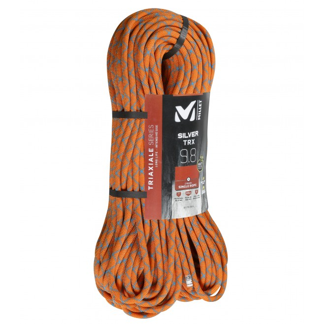 Klettern - Seil - Orange SILVER TRX 9,8mm 70m Millet