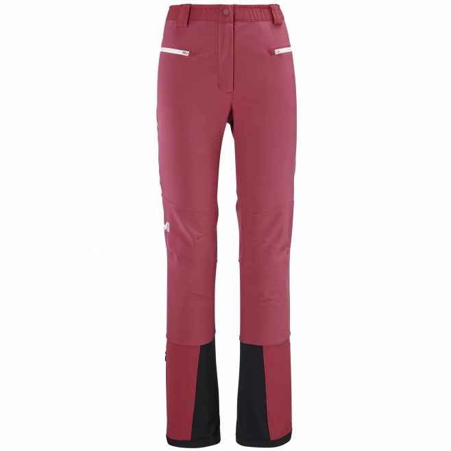 Softshellhose für Damen - rot TOURING SHIELD PT W Millet