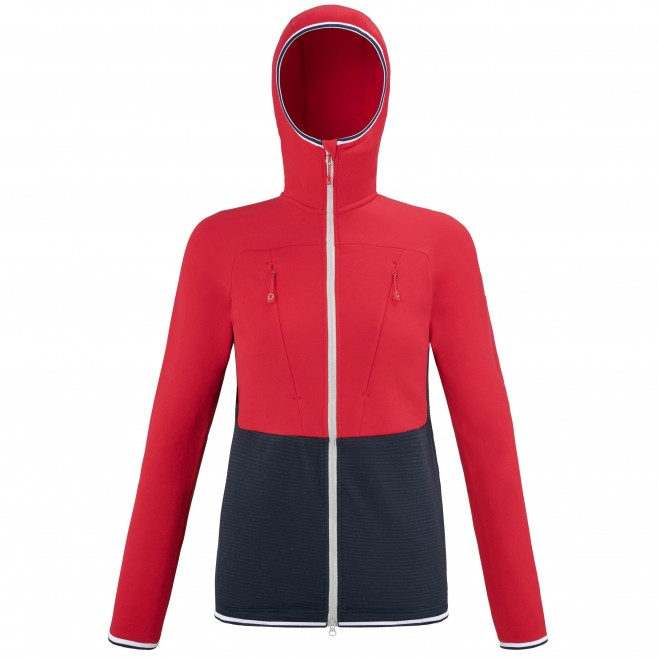 Fleecejacke für Damen - marineblau TRILOGY ULTIMATE WOOLPOWER HOODIE W Millet